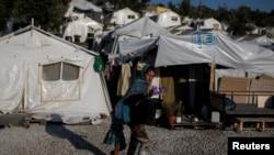 Një kamp i mgrantëve në Greqi.