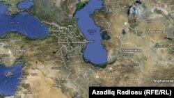 Google xəritəsindən Azərbaycan görüntüsü