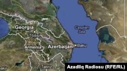 Xəzər dənizi xəritəsi