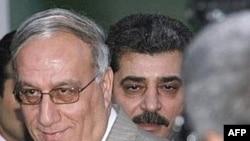 Iraqi Defense Minister Abdul-Qadir Muhammad Jasim al-Ubaydi (left)