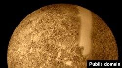 Фотография части поверхности Меркурия, полученная стацией Маринер-10