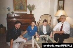 Ян Максімюк, Юля Андрусышын, Сяргей Шупа, Павел Андрусышын. Нью Ёрк, вясна 1992.
