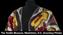 One of the many rare ikat robes now being exhibited at The Textile Museum in Washington, D.C.