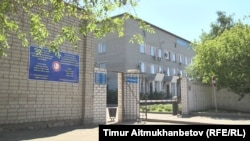 Здание инфекционной больницы в городе Павлодаре. Август 2016 года.