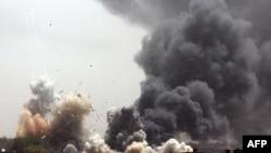 Триполидегі НАТО-ның әуе соққылары.