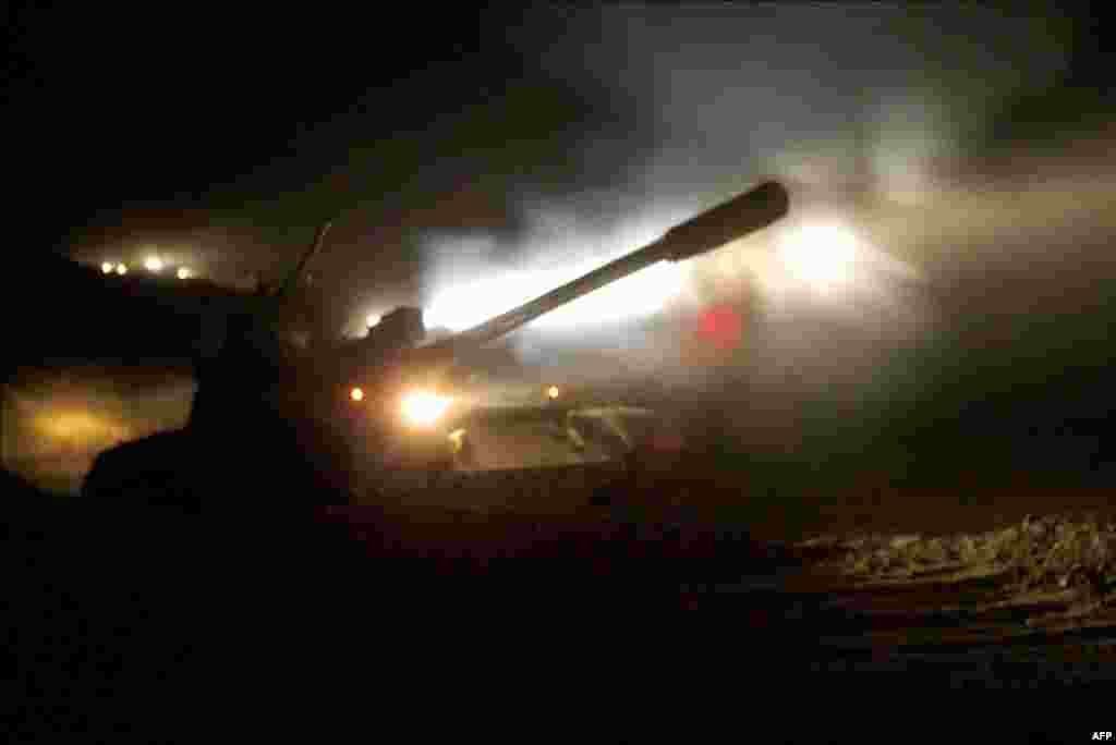 Танк сил НАТО в Афганистане, ноябрь 2011