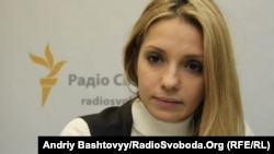 Eugenia Tymoshenko, daughter of Yulia Tymoshenko, also spoke at the Senate hearing.