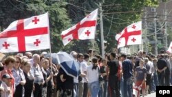 Антивоенная акция в Гори, Грузия, 2008 г
