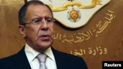 Ресей сыртқы істер министрі Сергей Лавров. Амман, Иордания, 6 қараша 2012 жыл.