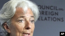 IMF Managing Director Christine Lagarde says IMF ready to take further action to tackle financial crisis.