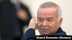 Ныне покойный президент Узбекистана Ислам Каримов.