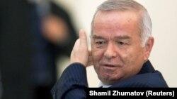 Первый президент Узбекистана Ислам Каримов на саммите в Алматы. Апрель 2009 года.