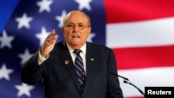 Rudy Giuliani abruptly pulled out of a Kremlin-backed forum in Armenia after it was reported by U.S. media. (file photo)