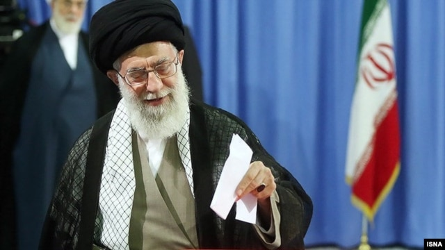 Iran's Supreme Leader Ayatollah Ali Khamenei urged a big turnout in elections on February 26.