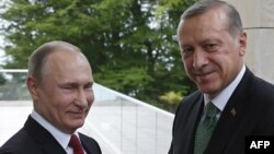 Президенттер Владимир Путин менен Режеп Тайип Эрдоган