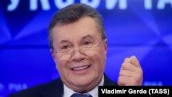 Виктор Янукович на пресс-конференции в Москве, 6 февраля 2019 года