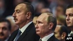 Ильхам Алиев и Владимир Путин на Всемирном энергетическом конгрессе в Стамбуле. 10 октября 2016 года
