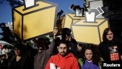 В конце сентября в Мадриде состоялась демонстрация сторонников независимости Каталонии