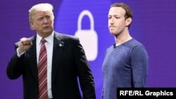 Donald Trump və Mark Zuckerberg (kollaj)