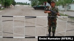 Кыргызско-узбекская граница, 1 мая 2012 года.