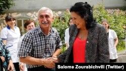 Саломе Зурабишвили в Кахетии (архив)