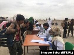 Беженцы на границе Афганистана и Ирака. Апрель 2020 года