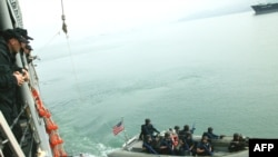 U.S. naval troops hold joint training exercises with the Georgian Coast Guard in Batumi in April