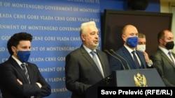 Potpredsjednik Vlade Dritan Abazović i premijer Zdravko Krivokapić u Podgorici, 18 decembar 2020.
