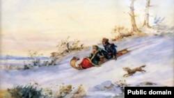 Карнэліюс Крыгхоф, «На санках» (1855)
