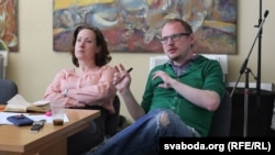 Другі рэжысэр Аляксандра Барысава і рэжысэр Андрэй Курэйчык