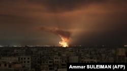 Սիրիա - Կառավարական զորքերի օդուժը ռմբակոծում է Արևելյան Գուտան, 23-ը փետրվարի, 2018թ.