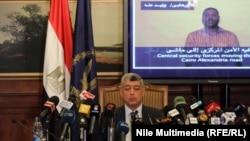وزير الداخلية المصري اللواء محمد إبراهيم في مؤتمر صحفي في القاهرة.