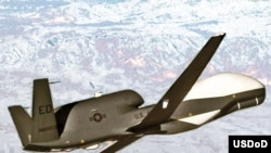 An U.S. unmanned drone aircraft over Afghanistan.