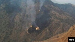 Место авиакатастрофы на севере Пакистана (7 декабря 2016 года)