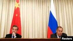 Ван И жана Сергей Лавров. Москва, 5-апрель, 2018-жыл.