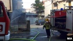 Пожар зад судот во Струмица