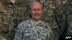 General Martin Dempsey at ISAF headquarters in Kabul on August 20
