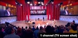 """Ток-шоу Первого канала """"Пусть говорят"""" с Дмитрием Борисовым."""