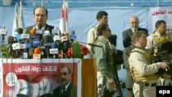 Prime Minister Nuri al-Maliki speaking to supporters last week in Al-Najaf