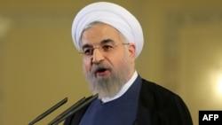 Иран президенті Хасан Роухани. Тегеран, 3 сәуір 2015 жыл.