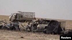 عکسی از یکی از فیلمهای منتشرشده از سوی ارتش عراق