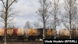 Таварны цягнік з нафтай, Гарадок (Віцебская вобласьць). Ілюстрацыйнае фота