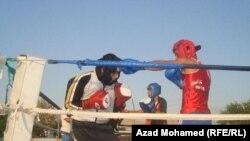 في المعسكر التدريبي لناشئة العراق في الملاكمة في السليمانية