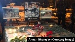 Астанада өрттен мерт болған бес баланы еске алу шарасы. Алматы, 5 ақпан 2019 жыл.
