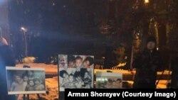 Privremeni spomenik za pet sestara u Astani