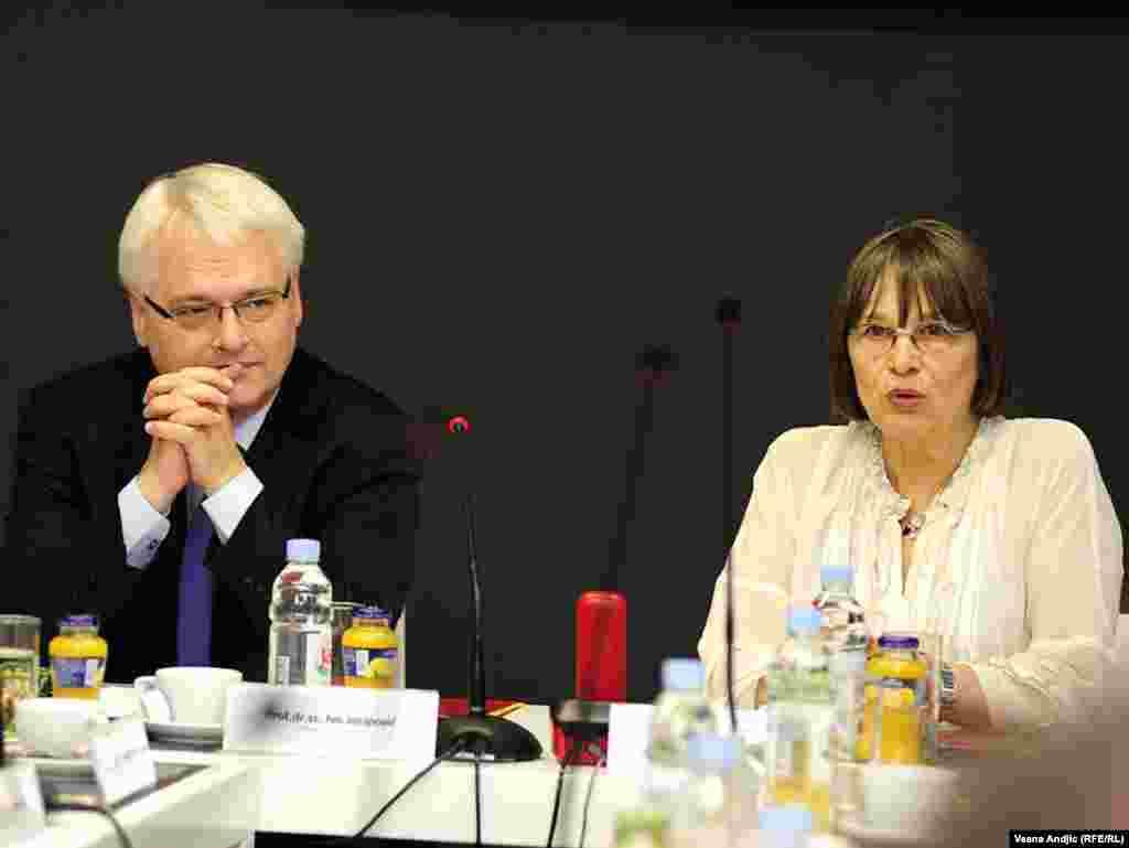 Ivo Josipović i Nataša Kandić, 19. jul 2010. - Hrvatski predsednik se drugog dana posete susreo sa predstavnicima Nevladinih organizacija