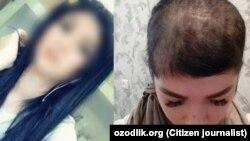 28-летняя Шахзода Хусанова до и после «самосуда».