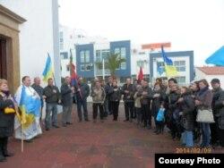 Під час акції в Албуфейрі, 9 лютого 2014 року