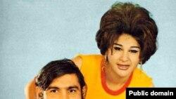 سوسن همراه با آغاسی ، دو خواننده معروف موسیقی لاله زاری یا «مردمی»