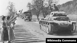 Танковая колонна Вермахта, 1938 год